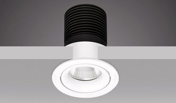 Bei Einbaudownlights nicht zu sehen, aber unverzichtbar: Das schwarze Kühlgerippe, das für den Abtransport der Wärme bei LED-Leuchten zwingend notwendig ist. Fotos: Prediger