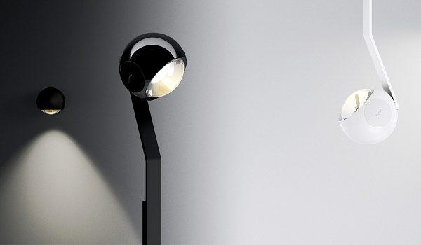 Intelligente Lichttechnik - da darf Occhio natürlich nicht fehlen. Die Leuchte der io 3d-Serie haben im Leuchtenkopf kleine elektronische Sensoren, die auf Bewegungen reagieren. Foto: Occhio