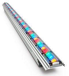 INsgesamt 6.500 dieser Philips ColorGraze-Leuchten wurden am Stadion verbaut. Foto: Philips
