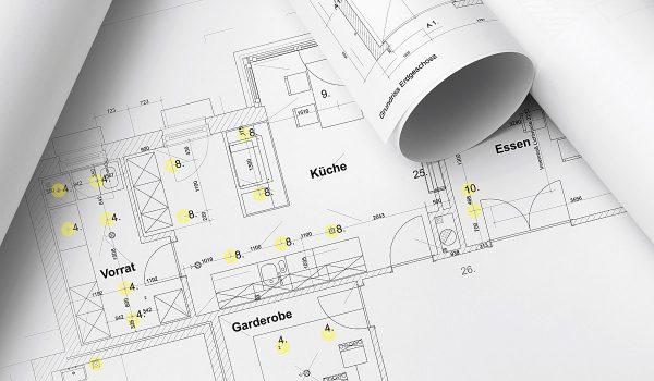 Gute Planung ist alles: Da eine Brennstelle in der Mitte des Raumes nie ausreicht, um ein stimmiges Lichtkonzept zu realisieren, sollte frühzeitig ein Lichtberater zu Hilfe genommen werden. Fotos (2): Prediger