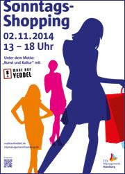 """Am 2. November findet der vierte und letzte verkaufsoffene Sonntag des Jahres in Hamburg statt. Das Motto diesmal: """"Kunst und Kultur""""."""
