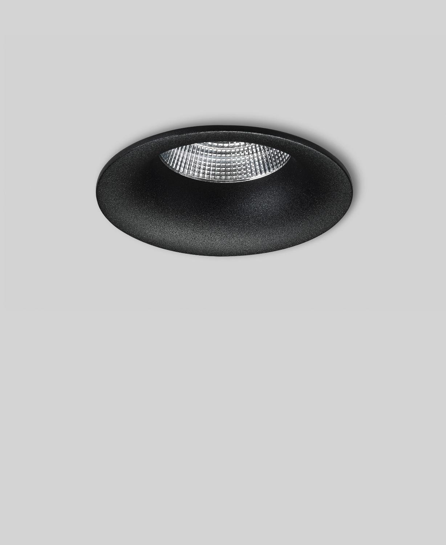 P013 Led Einbau Downlights R Schwarz Cri80 Geringe Einbautiefe