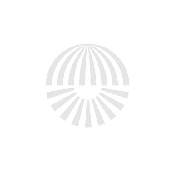 Occhio Sento E LED Tavolo 80 - Fuß Rechts - Weiß matt