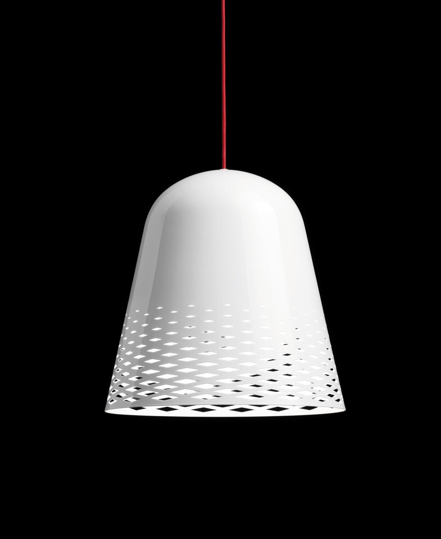 Capri H1 Weiß Glänzend, Kabelfarbe Rot