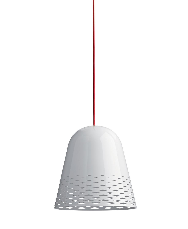 Capri H2 Weiß Glänzend, Kabelfarbe Rot