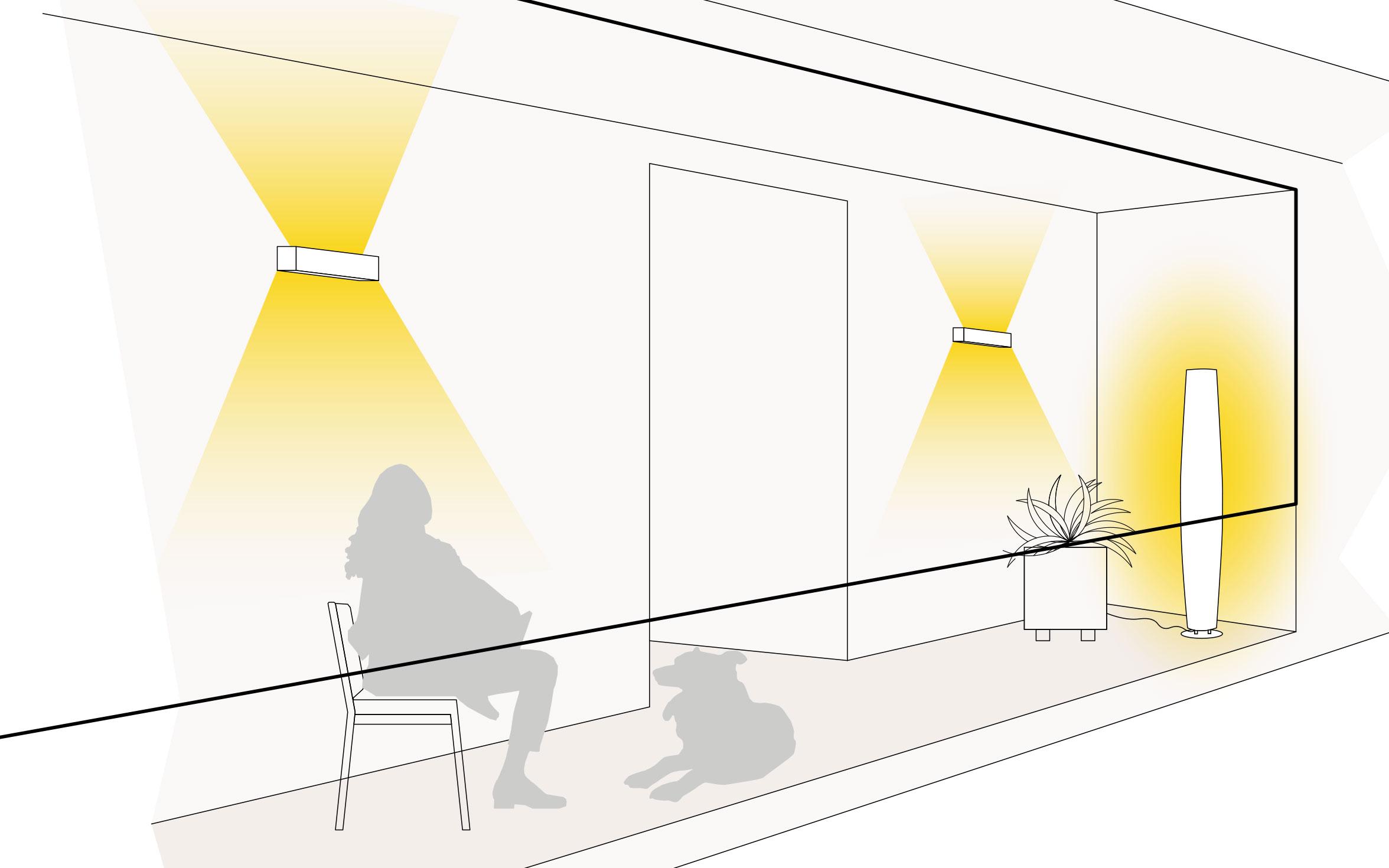 Lichtszene Balkon