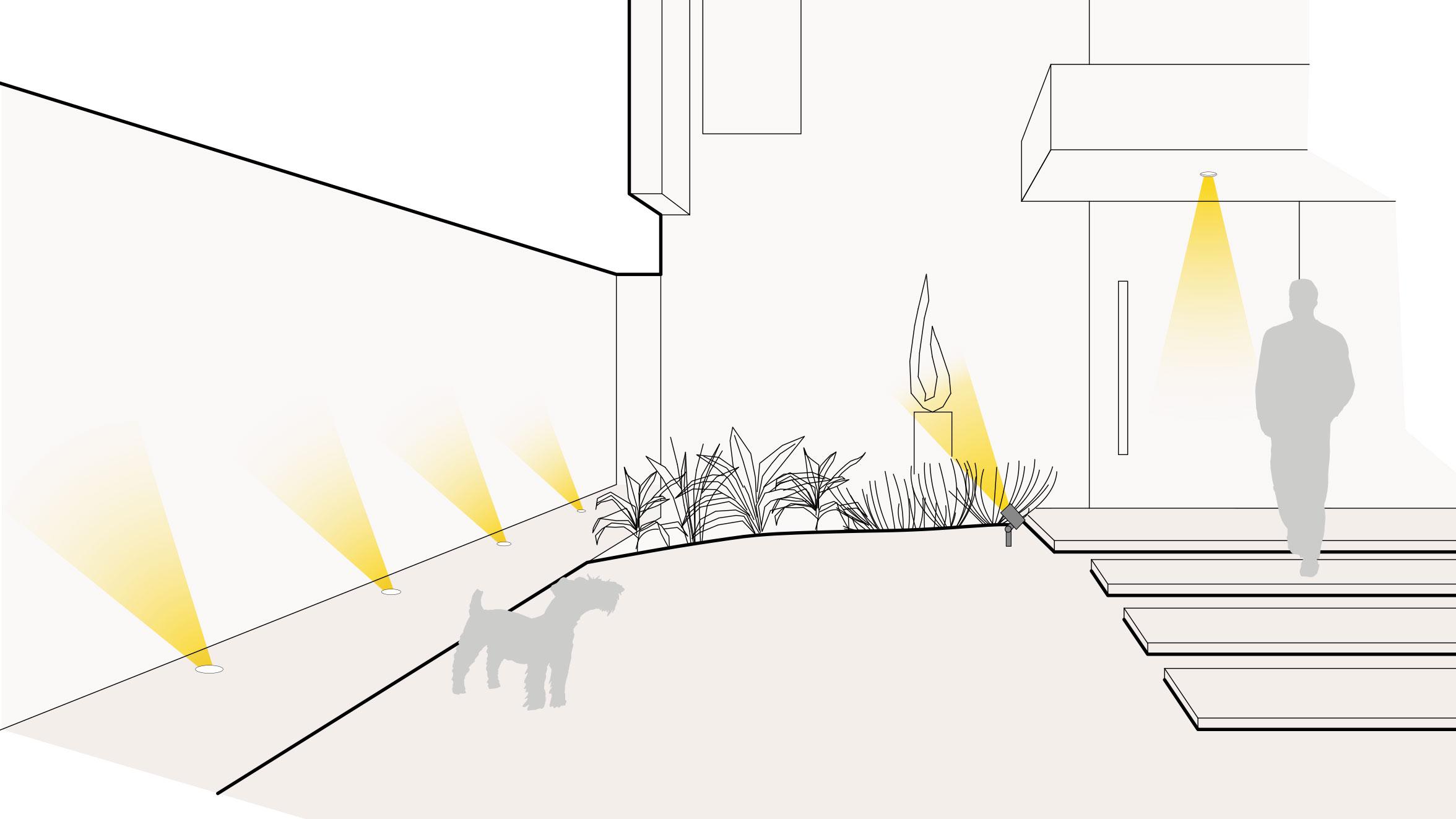 Einfahrt-Beleuchtung