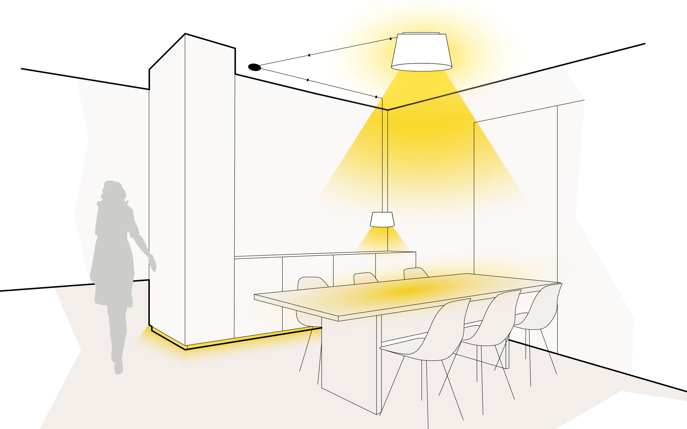 Licht am Esstisch