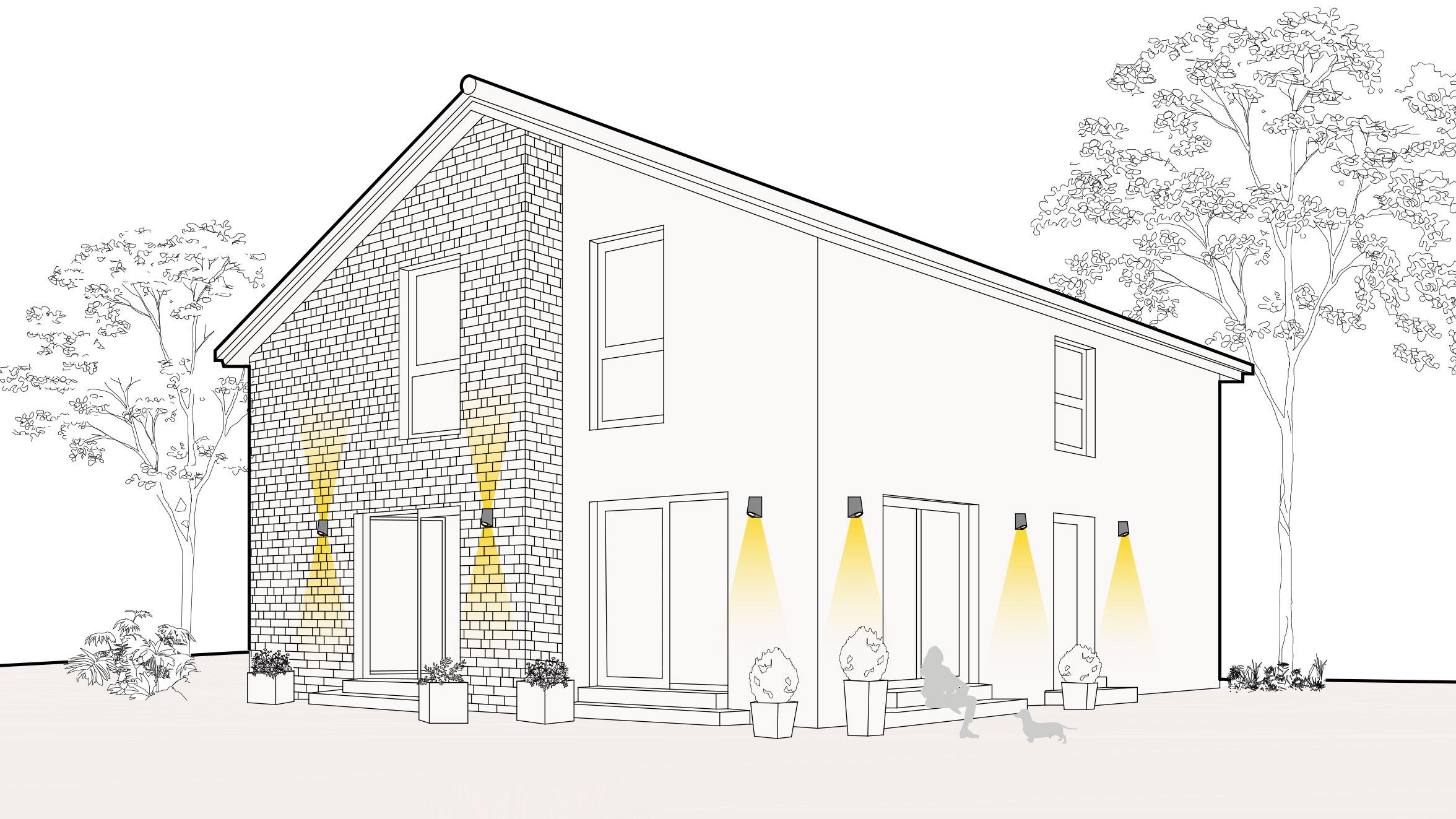Lichtszene Fassade