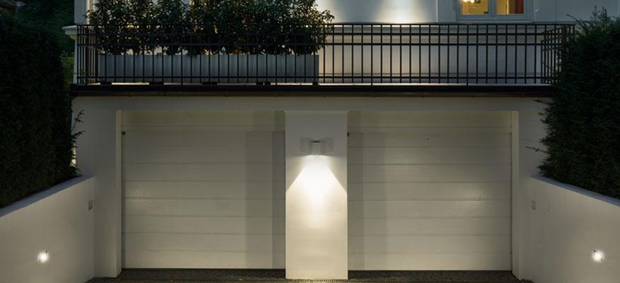 Außenleuchten Garage - Bega Wandleuchten mit einseitigem Lichtaustritt
