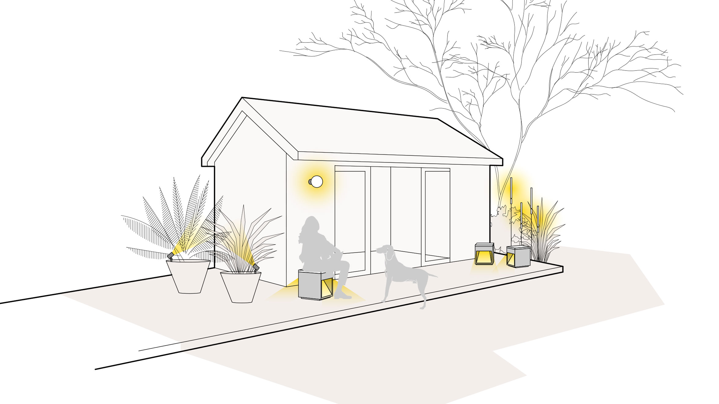 Lichtszene Gartenhaus