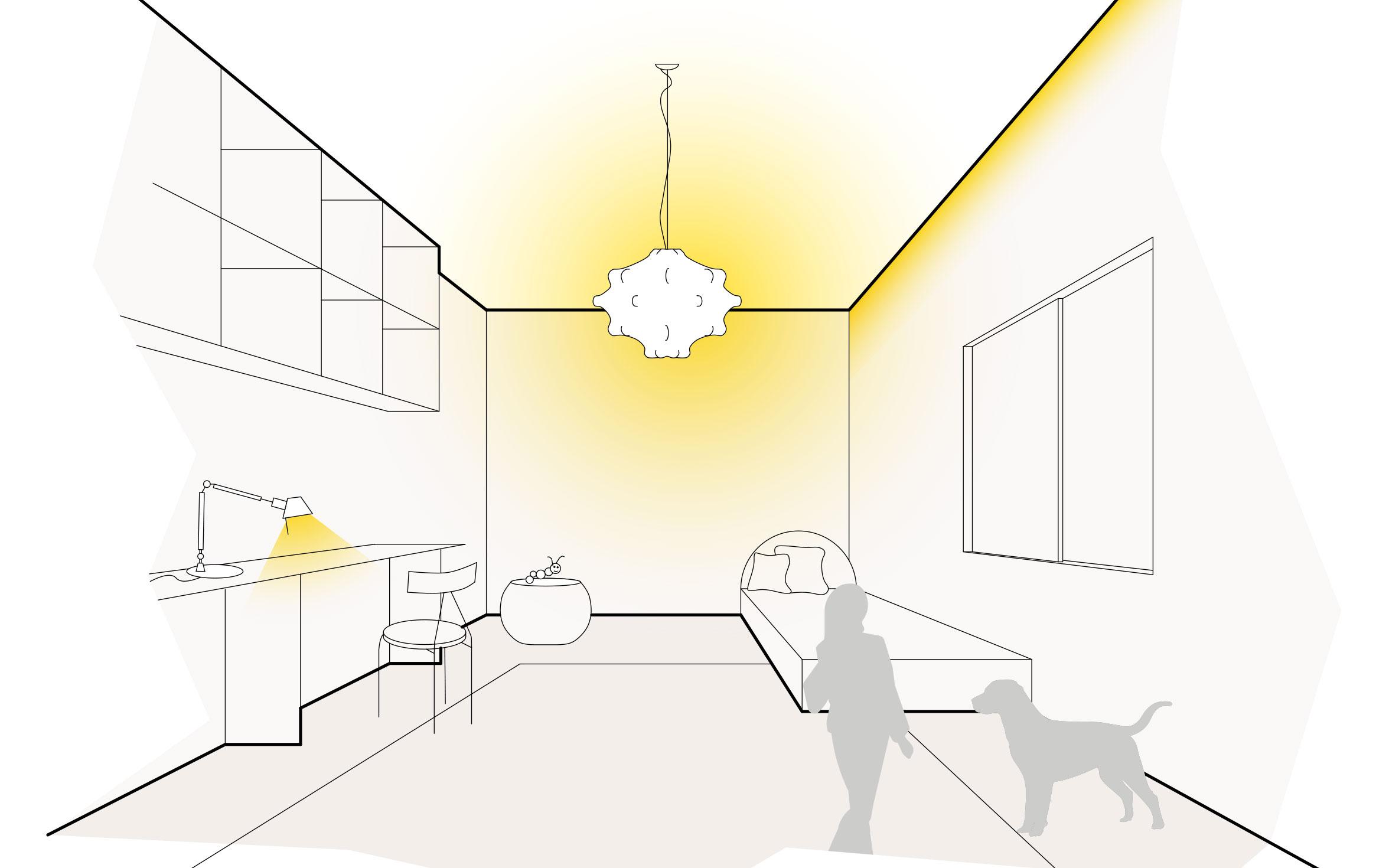 Lichtszene Kinderzimmer