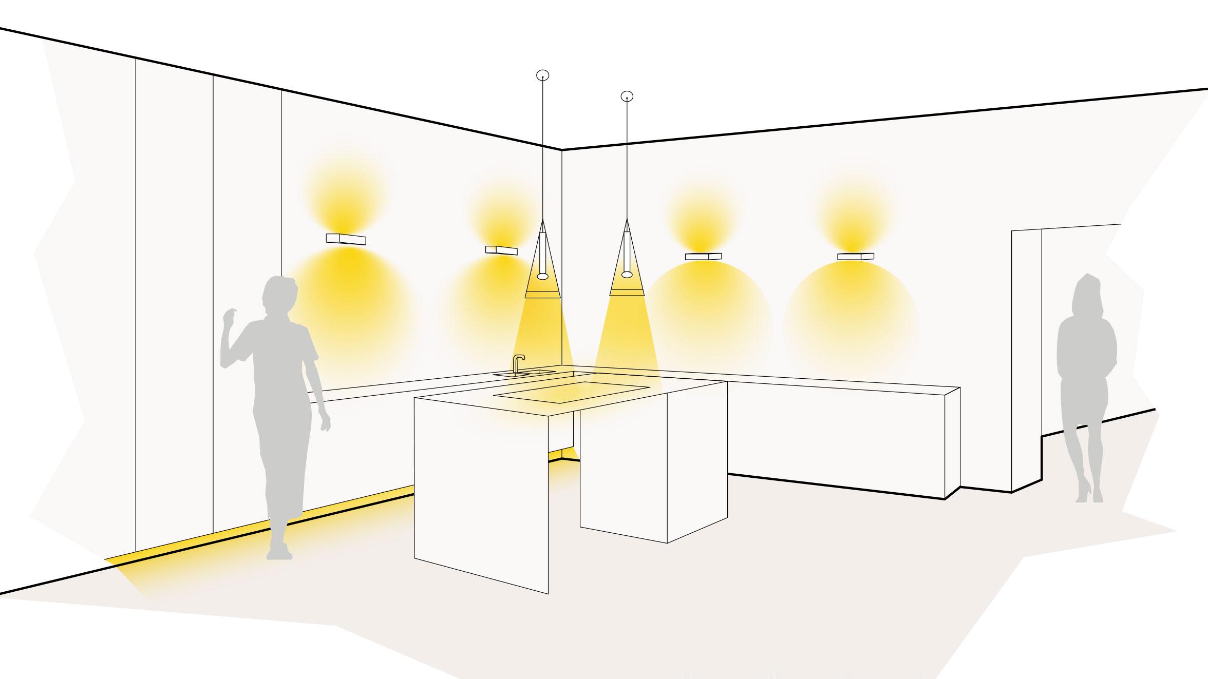 Lichtszene Küche
