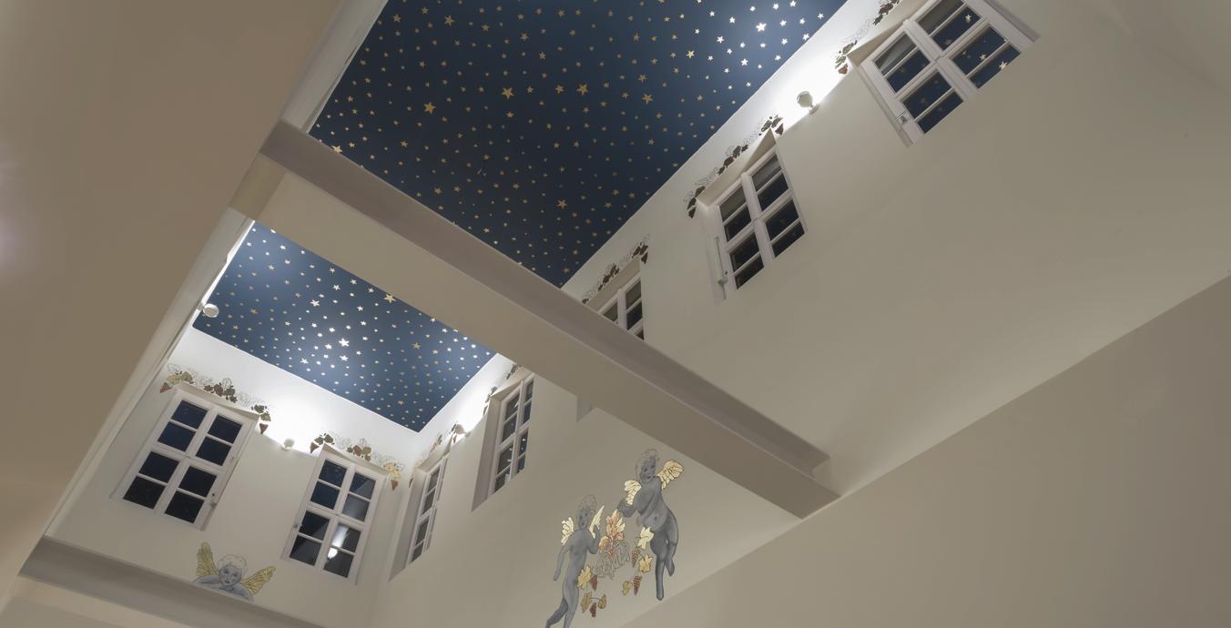Kleines Schmuckstück: Im Belvedere leuchtet abends der Sternenhimmel.