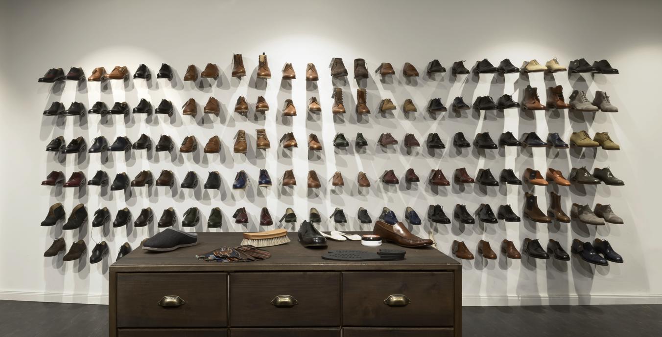 Imposant: Die ausgestellten Schuhe wurden mit Licht perfekt in Szene gesetzt.