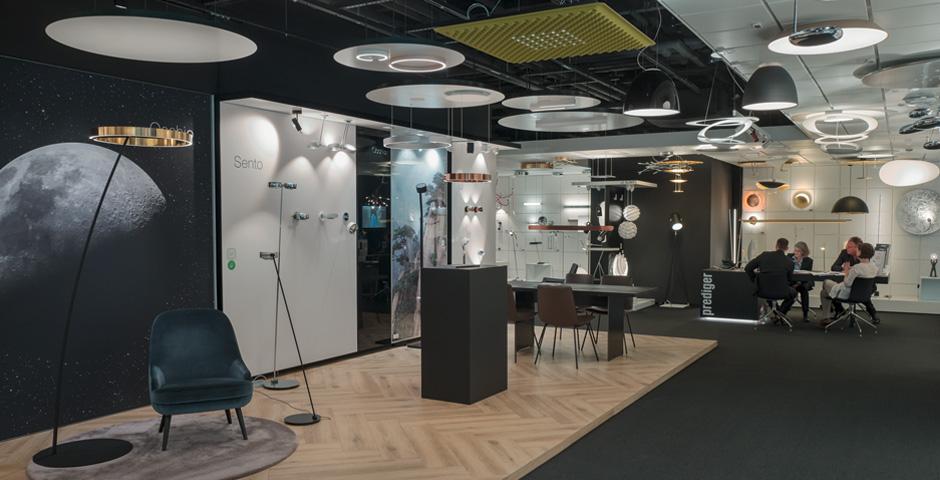 Der Point of Sale von Occhio im Showroom Frankfurt am Main.