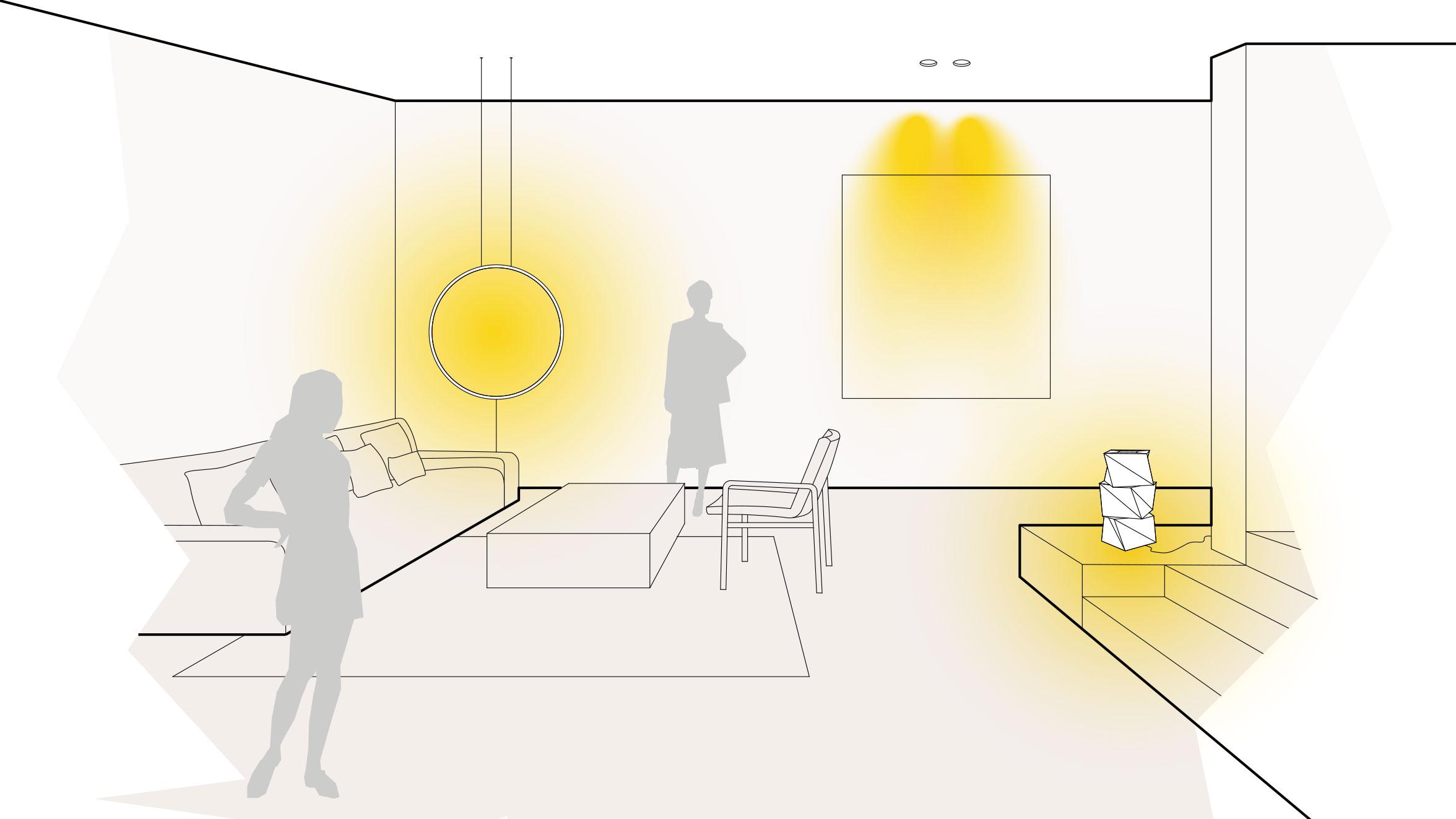 Leuchten und Lampen im Wohnzimmer