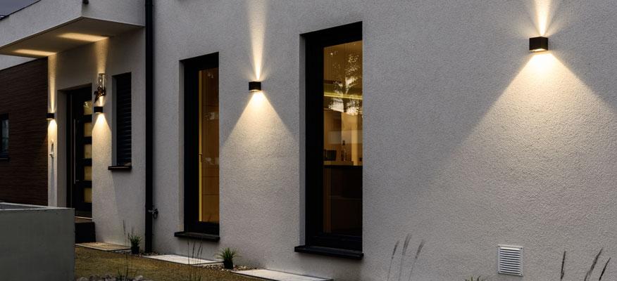 Außenleuchten Wandleuchten - prediger.base p.026 Zweiseitig Strahlende LED Außen Wandleuchten