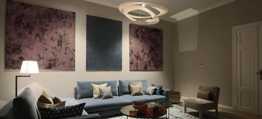 Innenleuchten Wohnzimmer - Artemide Pirce Sospensione