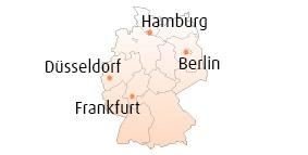 Alle Showrooms (Karte).